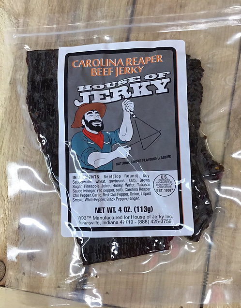 4 oz Carolina Reaper Jerky