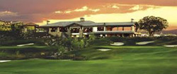 sycamore bar & grill golf course shot sunset