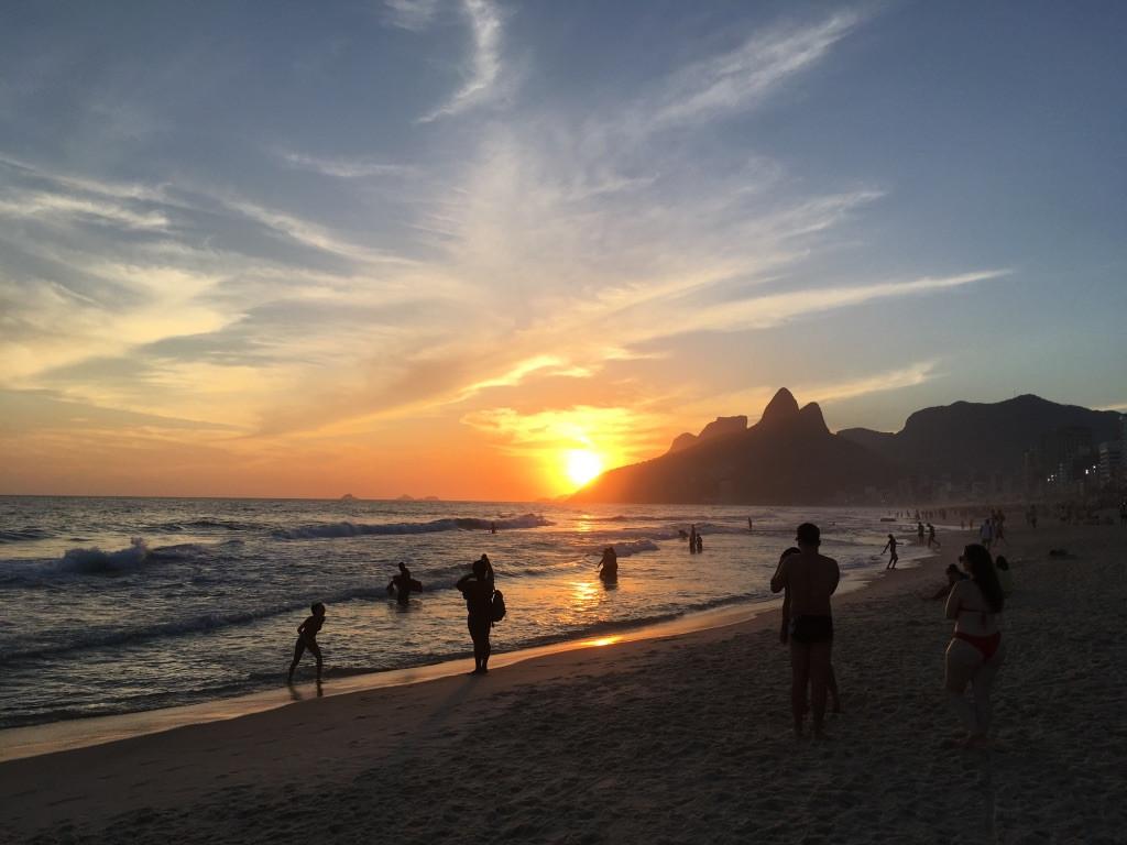 Ipanema at sunset, Rio de Janeiro
