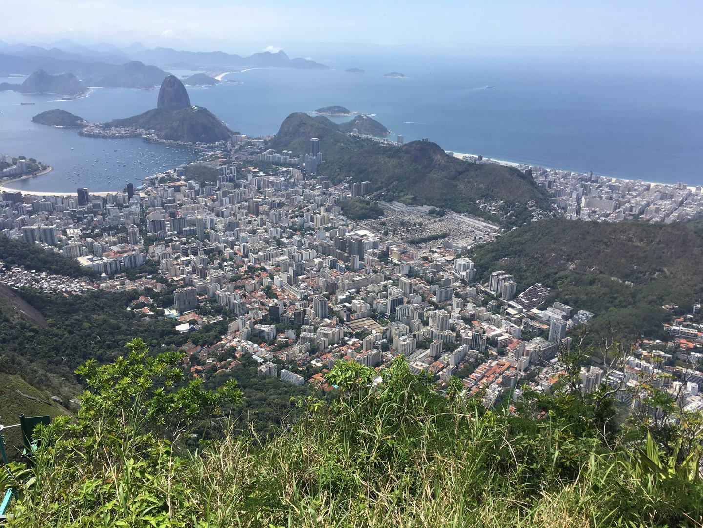 Sugarloaf mountain from Corcovado, Rio de Janeiro