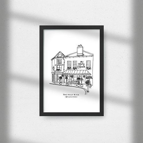 The Holly Bush - A4 Print