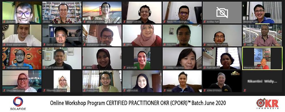 Peserta Pelatihan Training Sertifikasi OKR Batch Juni 2020 by Jimmy Sudirgo