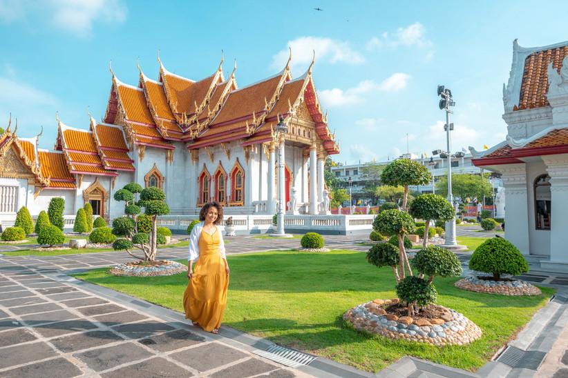 Traveler Photoshoot Marble Temple Bangkok