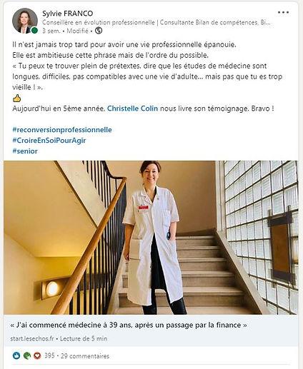 Sylvie FRANCO_Post LinkedIn Evolution pr