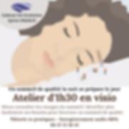 Atelier Sommeil d'1h30 en visio_Sylvie F