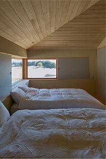 ぐっすりと眠れる寝室