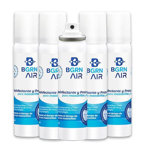 BGrn Air en Aerosol 100 ml - Set de 5 piezas