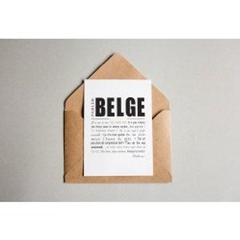 Carte postale / Le parler belge