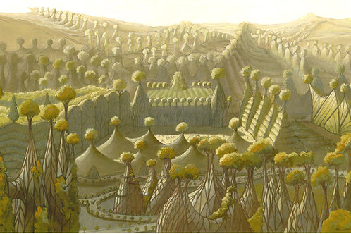 Affiche / La Cité aux arbres tressés - Luc Schuiten