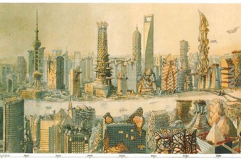 Carte postale / Panorama - Shanghai en quatre dimension - Luc Schui