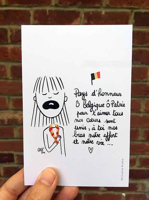 Carte postale / Brabançonne Mouvement de Jeunesse