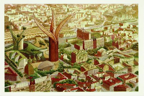 Carte postale / Lyon 2100 jour - Luc Schuiten