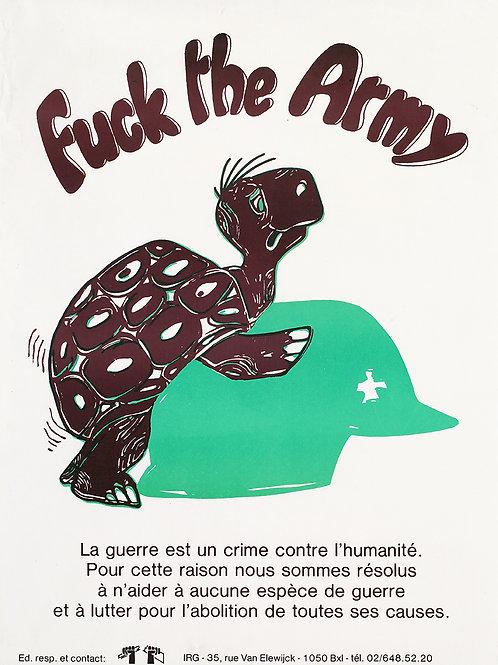 Carte postale / Fuck the army