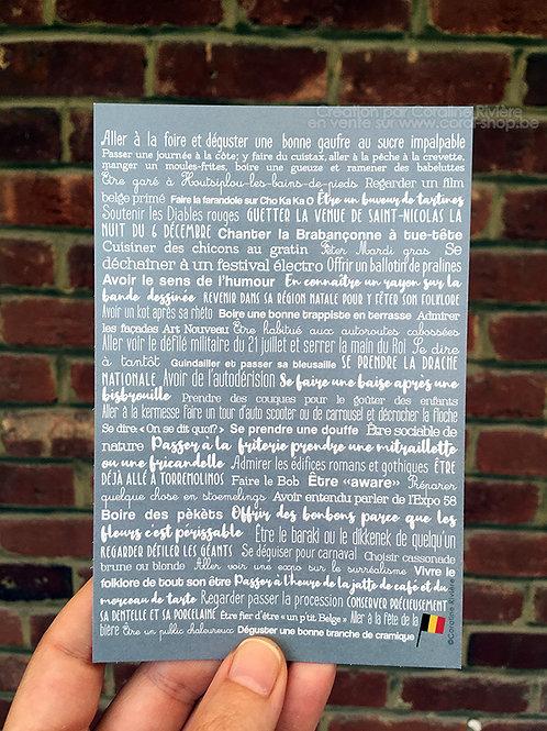 Carte postale / Expressions et Coutumes Belges
