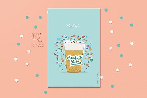 Carte Postale / Confetti Beer