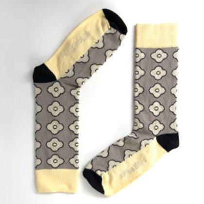 Chaussettes Fleurs grises / Trebius Valens