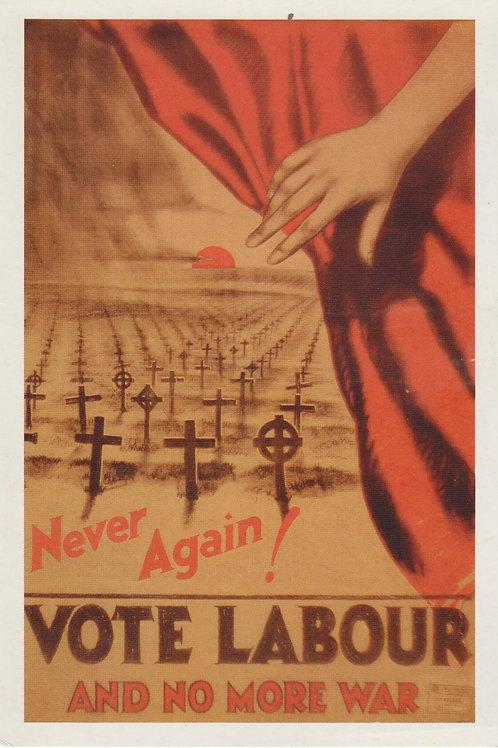 Carte postale / Vote labour and no more war