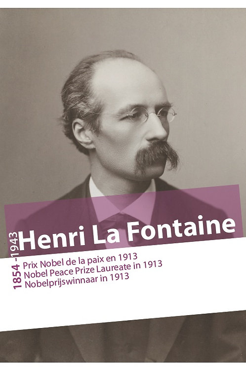 Henri La Fontaine, Prix Nobel de la Paix en 1913