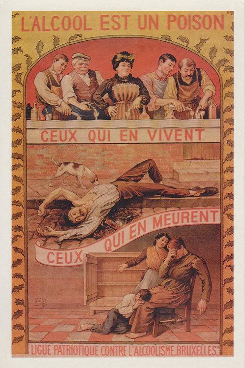 Carte postale / L'alcool est un poison