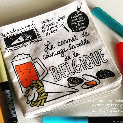 Carnet de coloriage lavable de la Belgique