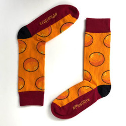 Chaussettes orange sanguine
