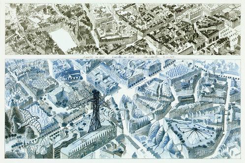 Carte postale / Brussels 2000-2100 - Luc Schuiten