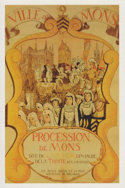 Carte postale / Procession de Mons