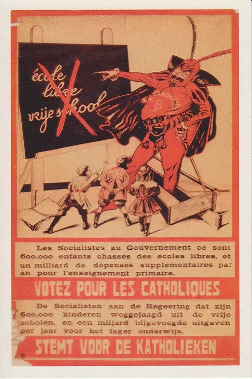 Carte postale / Votez pour les catholiques