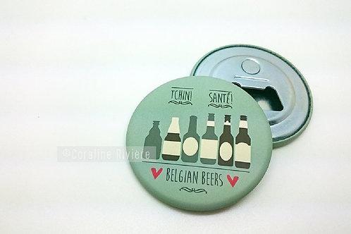 Magnet Décapsuleur /  Bières Belges