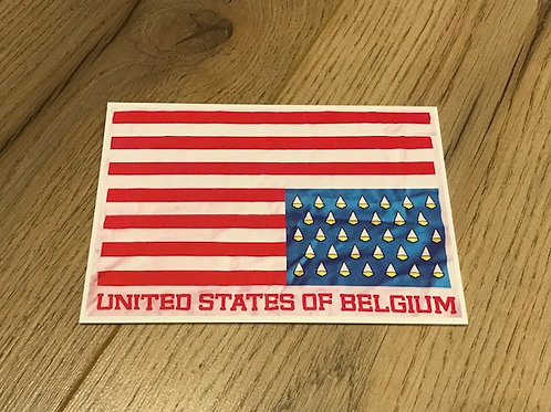 Carte postale / United States of Belgium fries