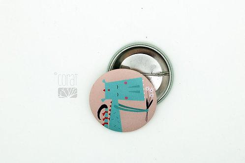Badge / Dragon Fleuri