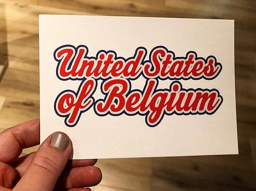 Carte postale / United States of Belgium (rouge)