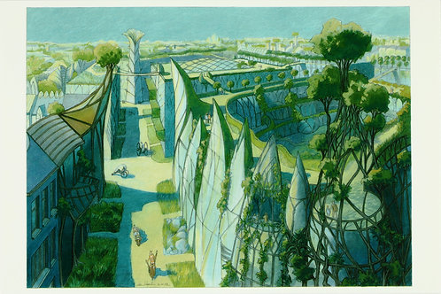 Carte postale / Toits jardins 2 - Luc Schuiten