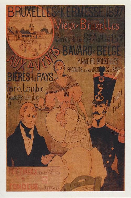 Carte postale / Bruxelles Kermesse 1897
