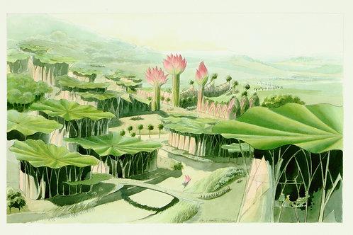 Carte postale / La Cité Lotus - Luc Schuiten