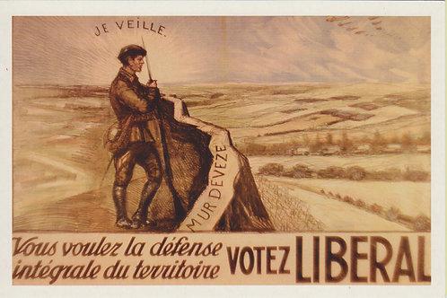 Carte postale / Votez libéral