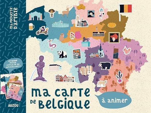 Ma carte de Belgique à animer