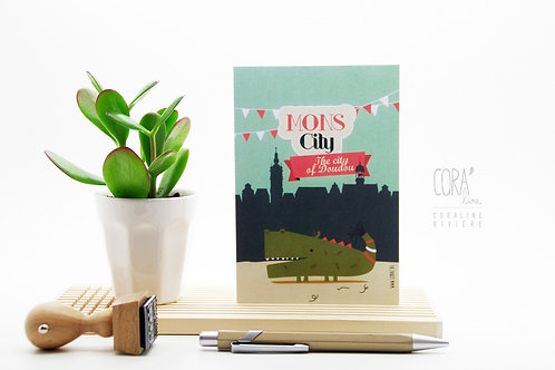 Carte postale / Petit Dragon Montois