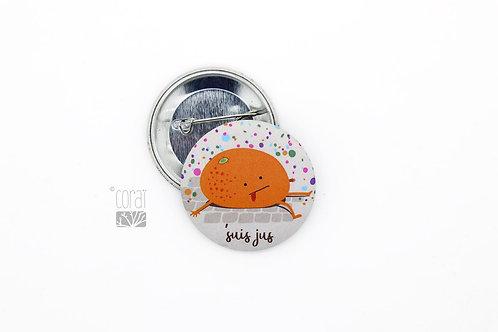 Badge / Petite orange de Carnaval