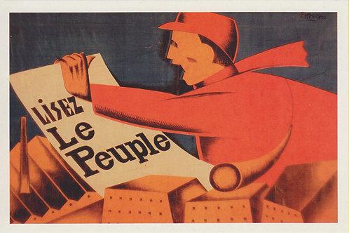 Carte postale / Lisez Le Peuple