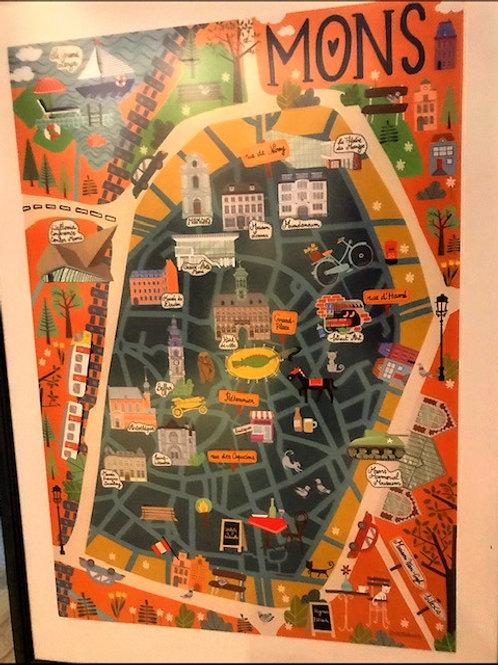 Poster / Plan de Mons