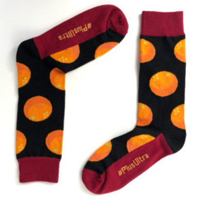 Chaussettes Orange noire / Trebius Valens