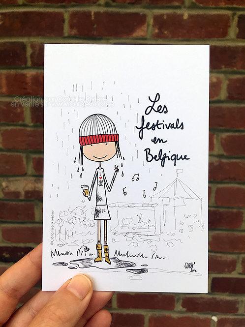 Carte postale / Les Festivals en Belgique
