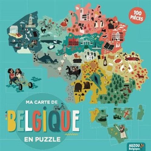 Ma carte de Belgique en puzzle