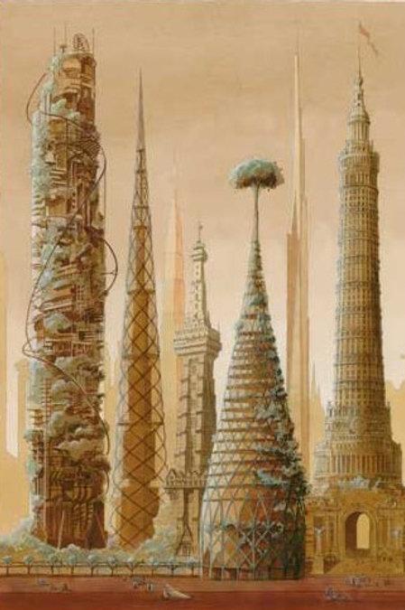 Carte postale / Utopia - Luc Schuiten