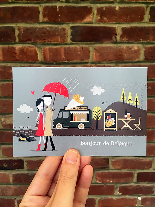 Carte postale / Bonjour de Belgique
