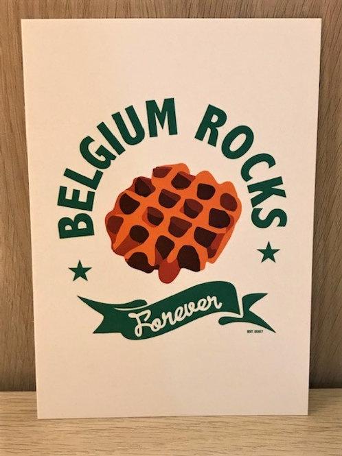 Carte postale / Belgium Rocks Forever