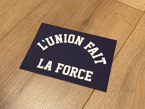 Carte postale / L'Union fait la force