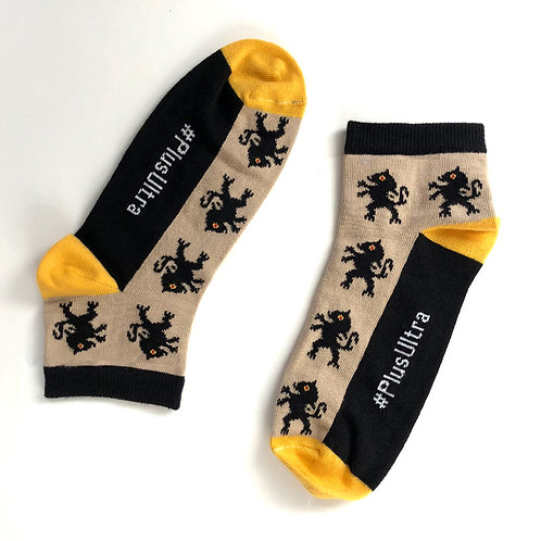 Socquettes Lion noir / Trebius Valens