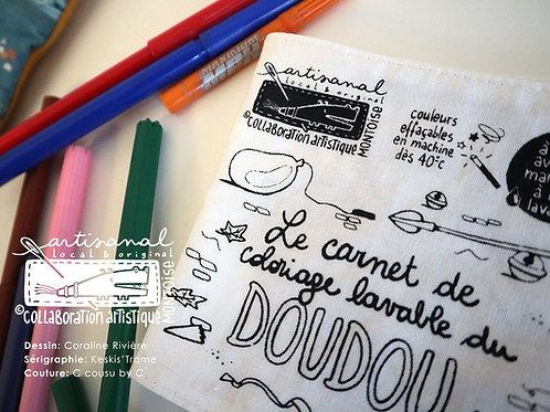 Carnet de coloriage lavable du Doudou